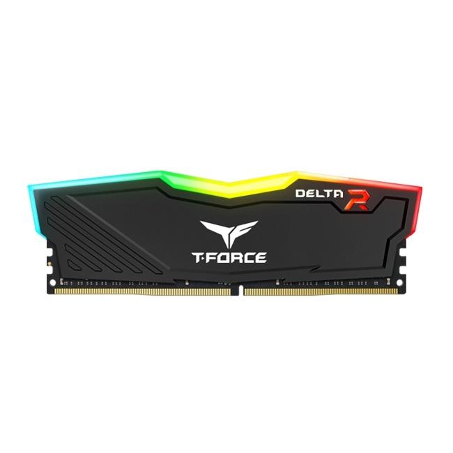 Memoria RAM Team Group DELTA T-FORCE Black DDR4, 3200MHz, 32GB, Non-ECC, CL16, XMP