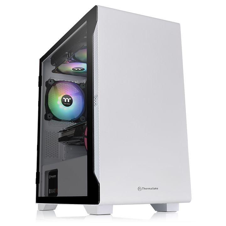 Gabinete Thermaltake S100 TG Snow con Ventana, Micro-Tower, Micro ATX/Mini-ITX, USB 3.0, sin Fuente, Blanco