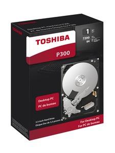 Disco Duro Interno Toshiba P300 3.5'', 1TB, SATA, 6 Gbit/s, 7200RPM, 64MB Cache