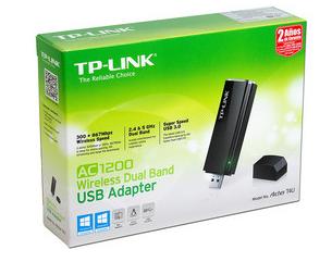 TP-Link Adaptador de Red USB AC1200, Inalámbrico, 2.4 y 5GHz