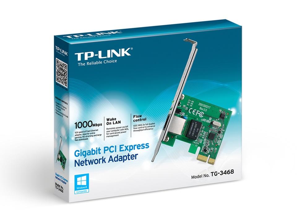 TP-LINK TG-3468 Tarjeta de Red PCI, Alámbrico, IEEE 802 3/3u/3ab, 802 3x,  802 1q/1p