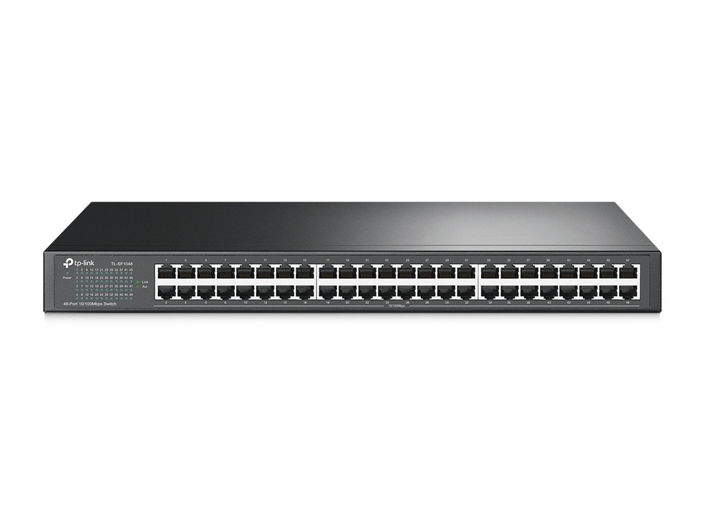 Switch TP-Link Fast Ethernet TL-SF1048, 10/100Mbps, 9.6Gbit/s, 48 Puertos – No Administrable