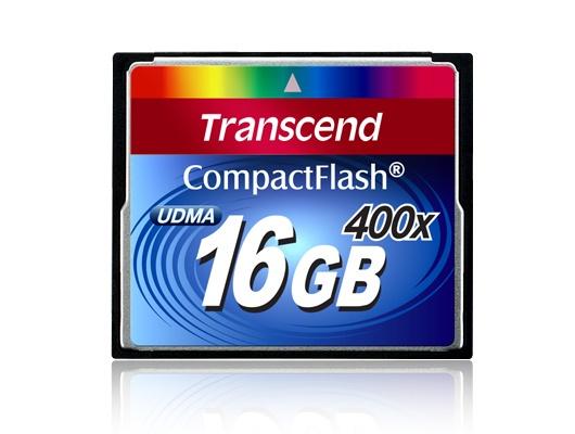 Memoria Flash Transcend 400x, 16GB CompactFlash