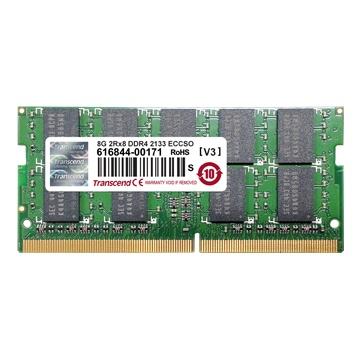 Memoria RAM Transcend TS1GSH72V1H DDR4, 2133MHz, 8GB, ECC, CL16, SO-DIMM