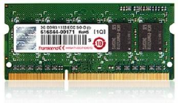 Memoria RAM Transcend TS1GSK72W6H DDR3, 1600MHz, 8GB, ECC, CL11, SO-DIMM, 1.35V