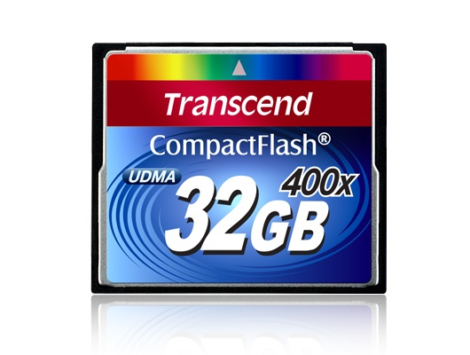 Memoria Flash Transcend 400x , 32GB CompactFlash