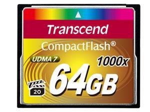 Memoria Flash Transcend, 64GB CompactFlash