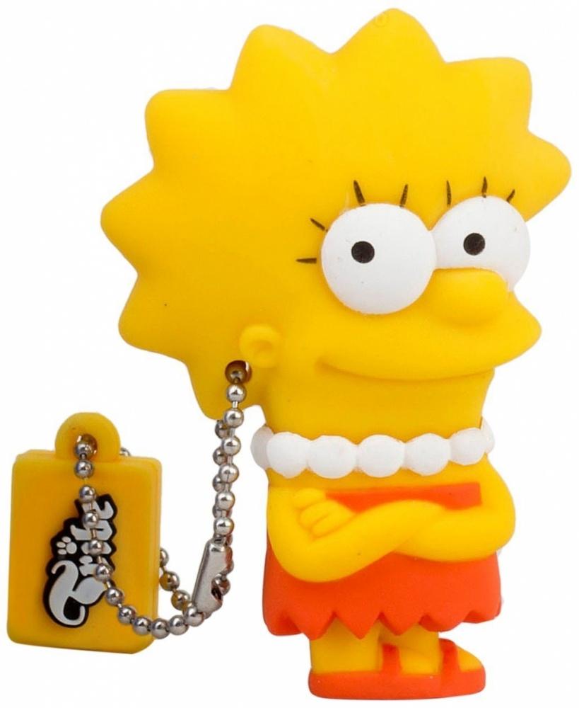 Memoria USB Tribe, 8GB, USB 2.0, Diseño Lisa Los Simpsons