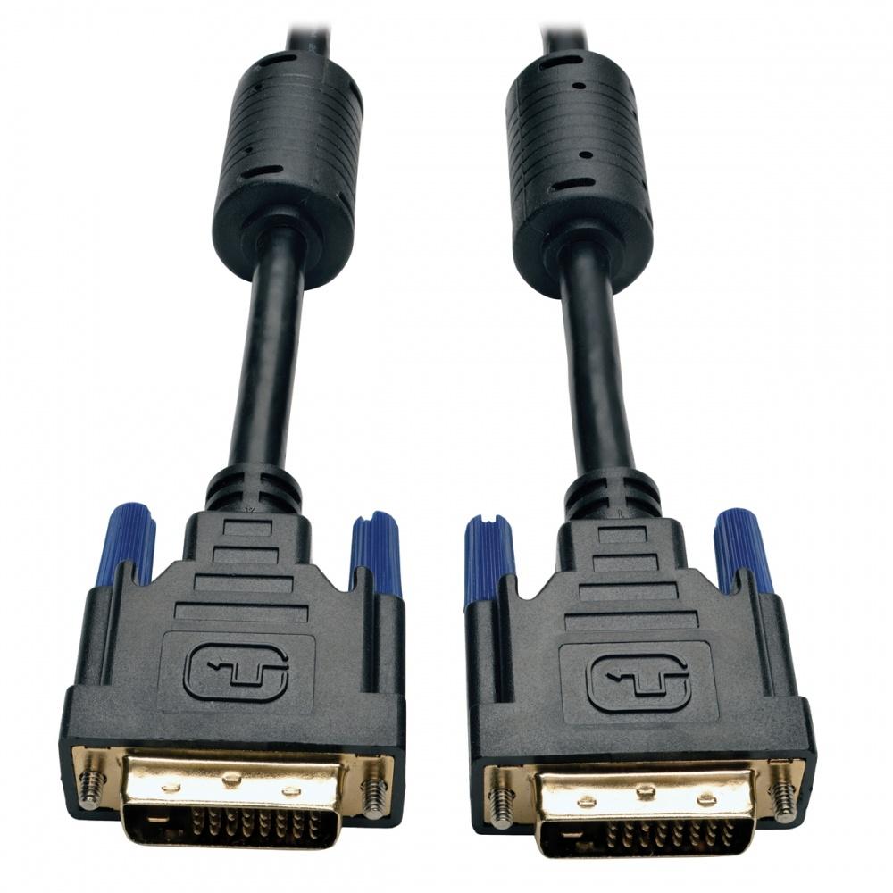 Tripp Lite Cable DVI de Doble Enlace para Monitor, DVI-D Macho - DVI-D Macho, 1.83 Metros, Negro