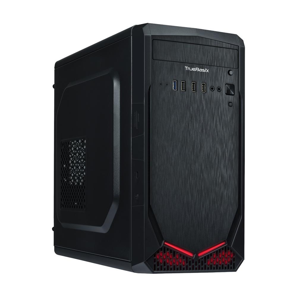 Gabinete True Basix IRON RGB, Mini-Tower, Mini-ATX/Mini-DTX/Thin Mini-ITX, USB 2.0/USB 3.1, incluye Fuente de 500W, Negro