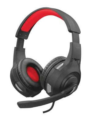 Trust Audífonos Gamer GXT 307 Ravu para Xbox One/Xbox Series X/S/PS4/PS5/Nintendo Switch, Alámbrico, 2 Metros, 3.5mm, Negro/Rojo