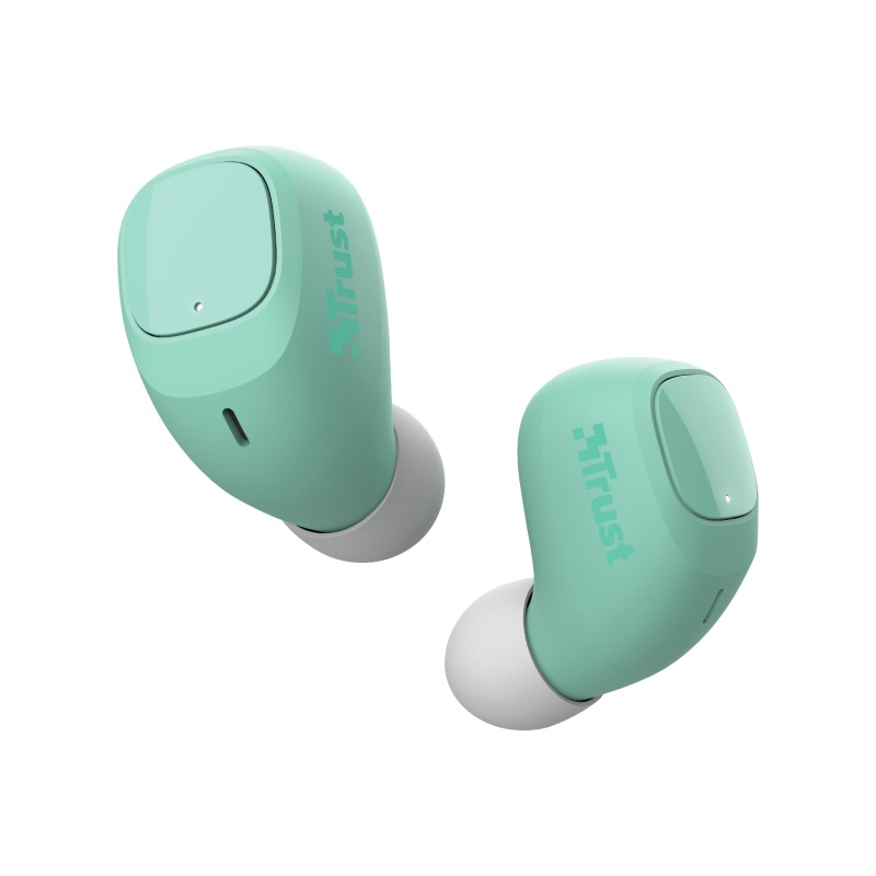 Trust Audífonos Intrauriculares con Micrófono Nika Compact, Inalámbrico, Bluetooth, Turquesa