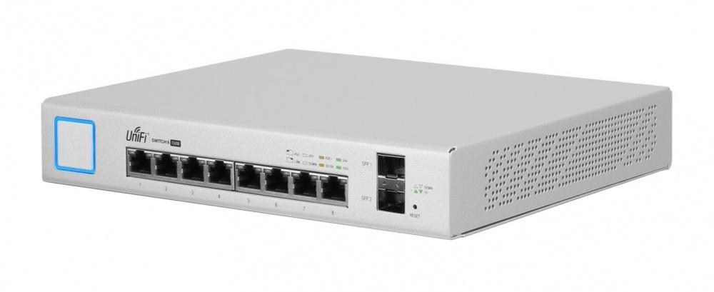 Switch Ubiquiti Networks Gigabit Ethernet US-8-150W, 8 Puertos 10/100/1000Mbps + 2 Puertos SFP, 20 Gbit/s - Gestionado