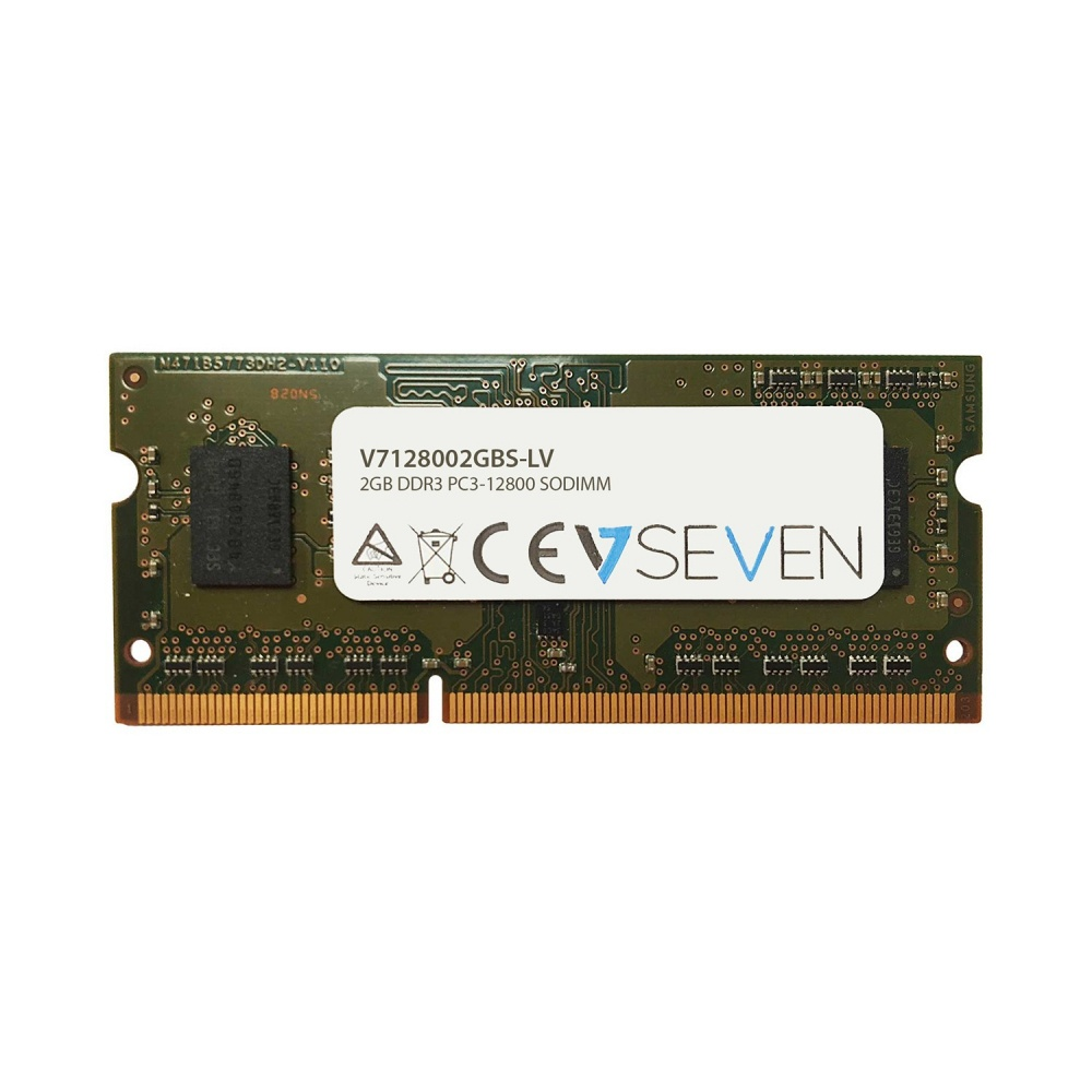 Memoria RAM V7 V7128008GBS-LV DDR3, 1600MHz, 2GB, Non-ECC, SO-DIMM, 1.35V