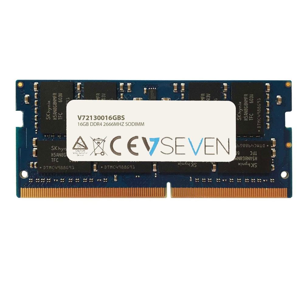 Memoria RAM V7 V72130016GBS DDR4, 2666MHz, 16GB, Non-ECC, SO-DIMM