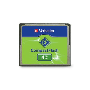 Memoria Flash Verbatim, 4GB Compact Flash (CF)