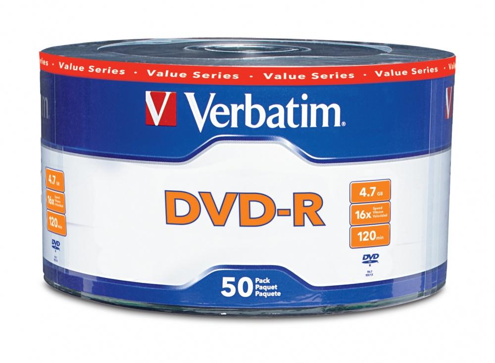 Verbatim Torre de Discos Virgenes para DVD, DVD-R, 50 Discos (97493)