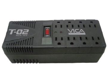 Regulador Vica T-02, 300J, 700W, Entrada 127V, 8 Contactos