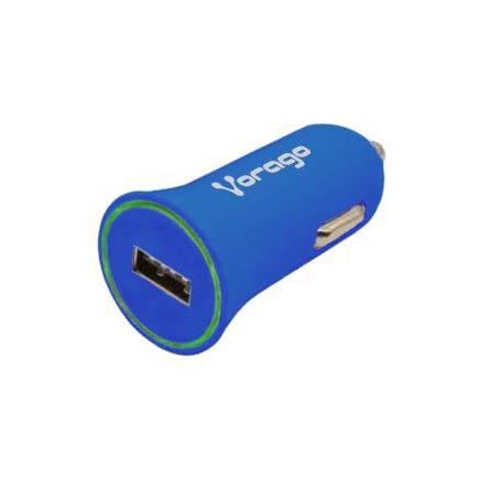 Vorago Cargador de Auto AU-101, 5V, 1x USB 2.0, Azul
