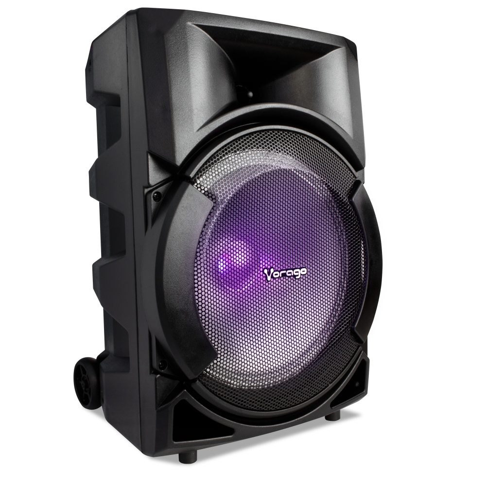 Vorago Bafle KSP-300, Bluetooth, Inalámbrico, 30W RMS, USB, Negro