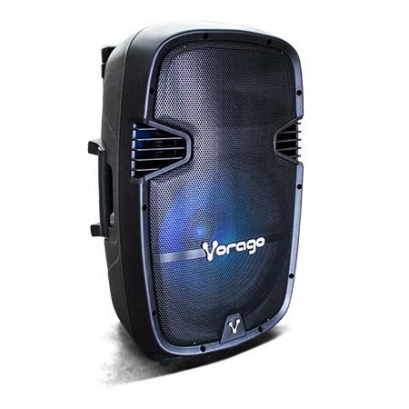 Vorago Bafle con Karaoke KSP-500, Bluetooth, Inalámbrico, 100W RMS, USB 2.0, Negro - incluye Tripie + 2 Micrófonos