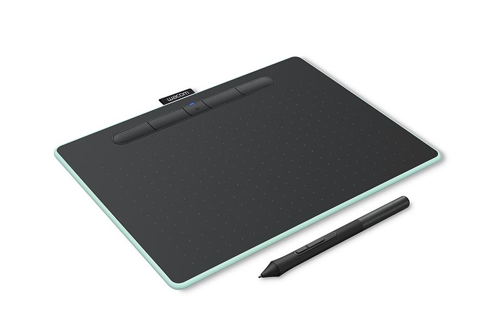 Tableta Gráfica Wacom Intuos M 216 x 135mm, Alámbrico/Inalámbrico, USB/Bluetooth, Negro/Aqua
