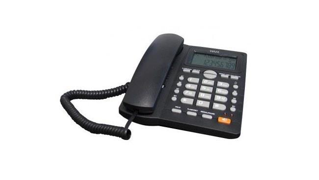 WAM Teléfono AS7412-B(W), Altavoz, Alámbrico, Negro
