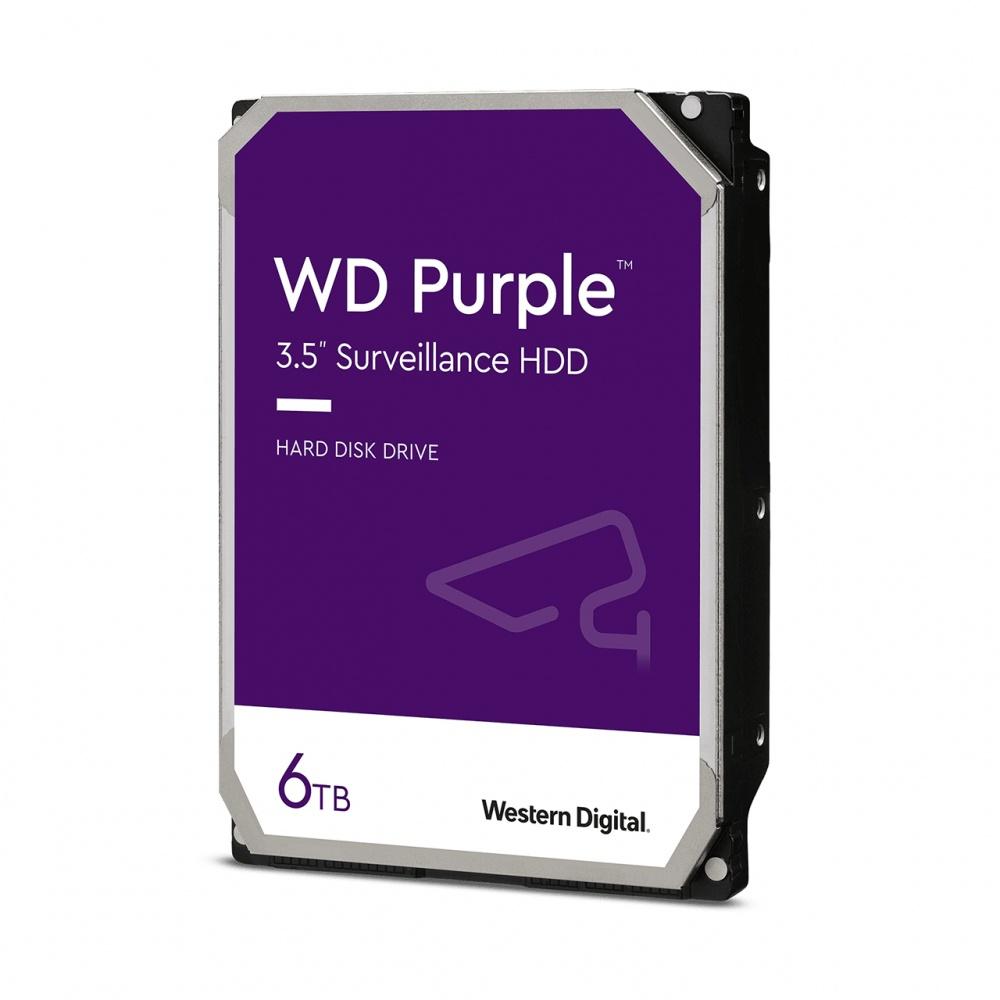 "Disco Duro Interno Western Digital WD Purple 3.5"", 6TB, SATA III, 6Gbit/s, 5640RPM, 256MB Caché"