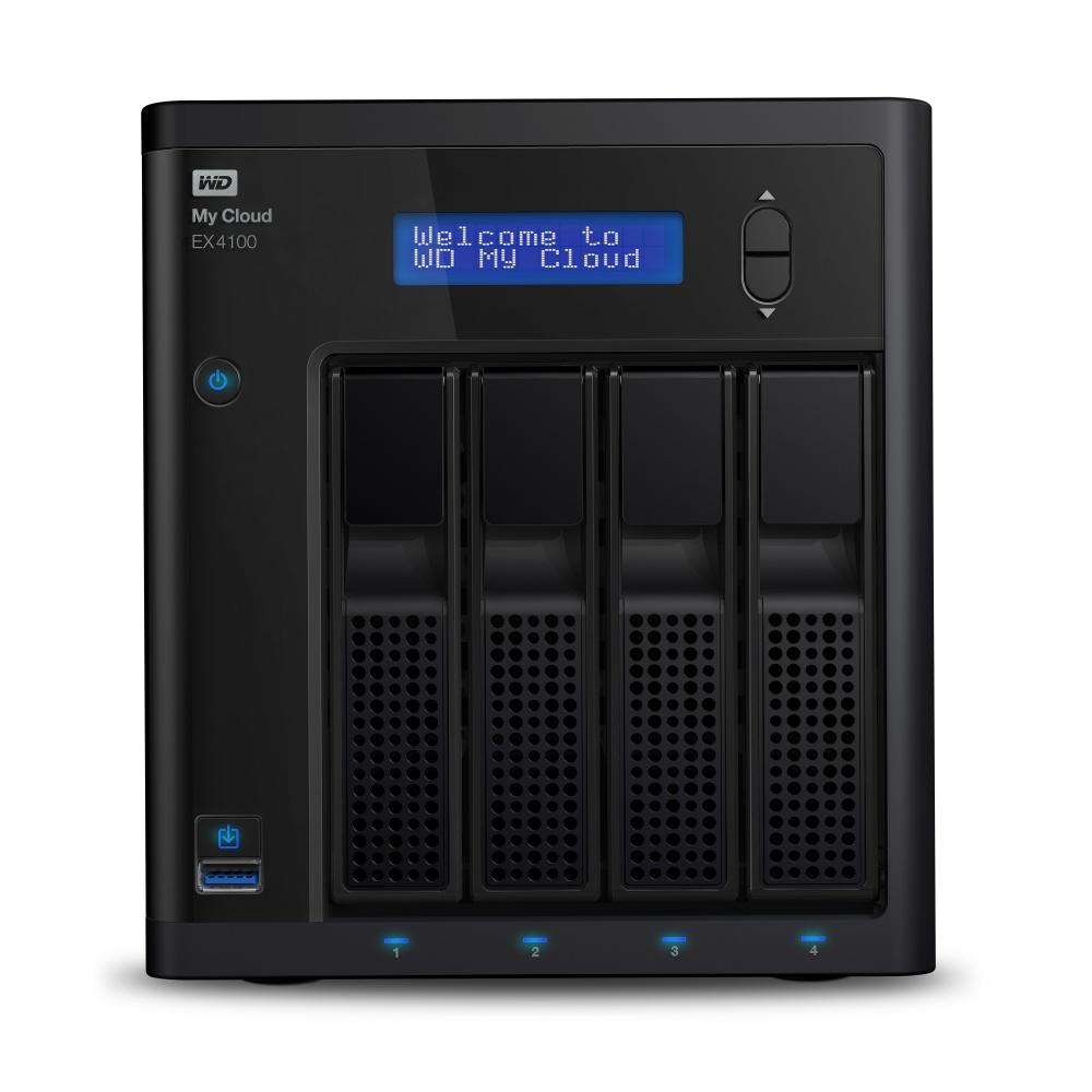 Western Digital WD My Cloud EX4100 NAS de 4 Bahías Hot Swap, 0TB, max. 24TB, USB 3.0, para Mac/PC ― no incluye Discos