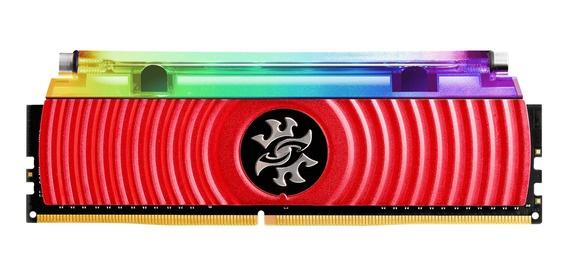 Memoria RAM XPG SPECTRIX D80 RGB RED DDR4, 3200MHz, 16GB, Non-ECC, CL16, XMP