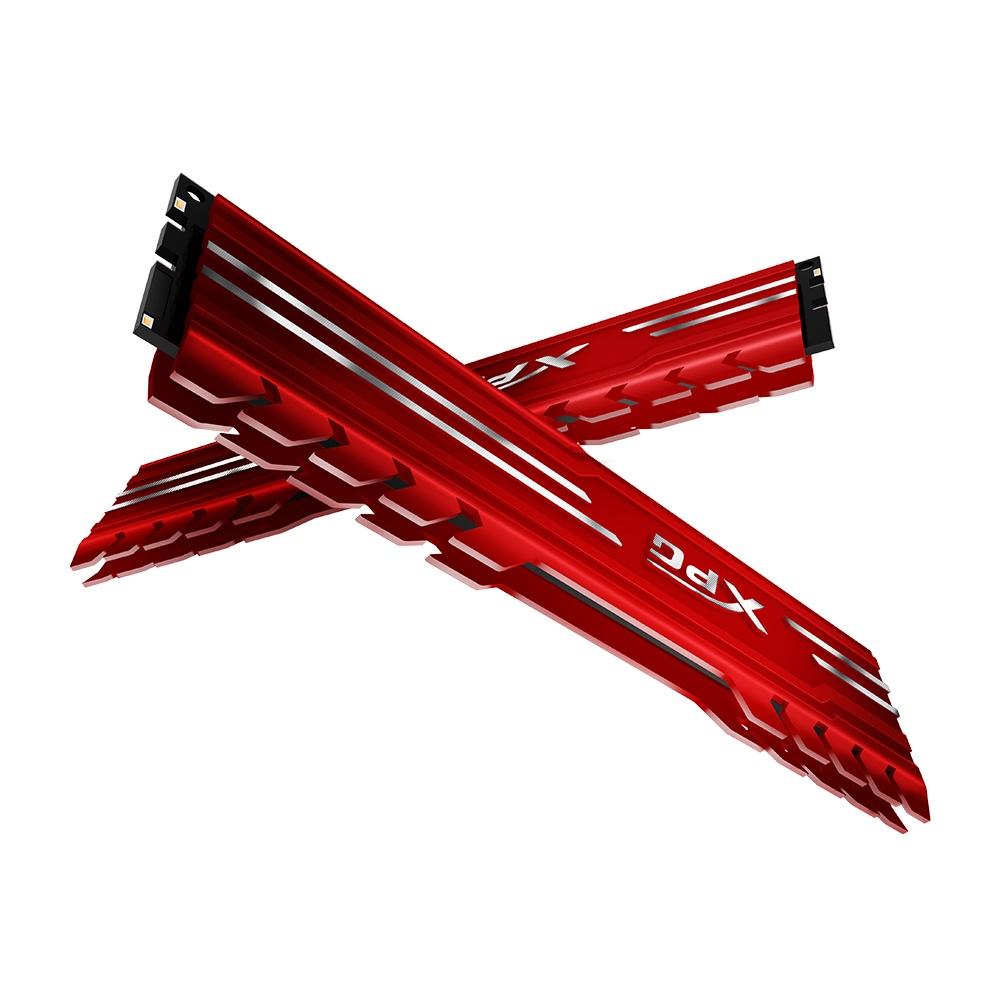 Memoria RAM XPG GAMMIX Red DDR4, 3200MHZ, 8GB, Non-ECC, CL16, XMP