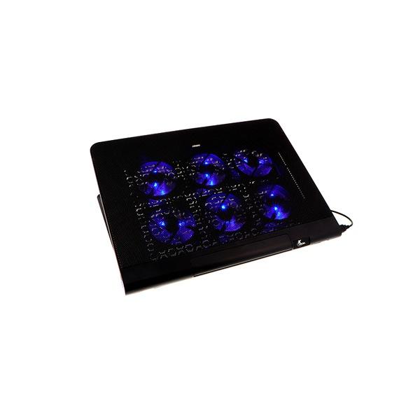 """Xtech Base Enfriadora XTA-160 para Laptop 17"""", 6 Ventiladores, Negro"""