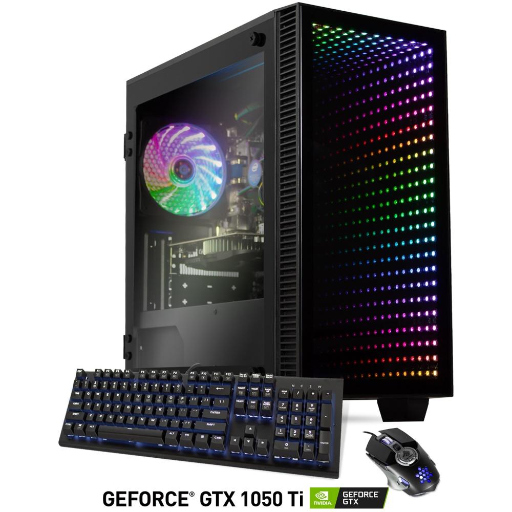 Computadora Gamer Xtreme PC Gaming CM-02800, Intel Core i5-9400F 2.90GHz, 16GB, 2TB + 240GB SSD, NVIDIA GeForce GTX 1050 TI, FreeDOS ― incluye Teclado y Mouse