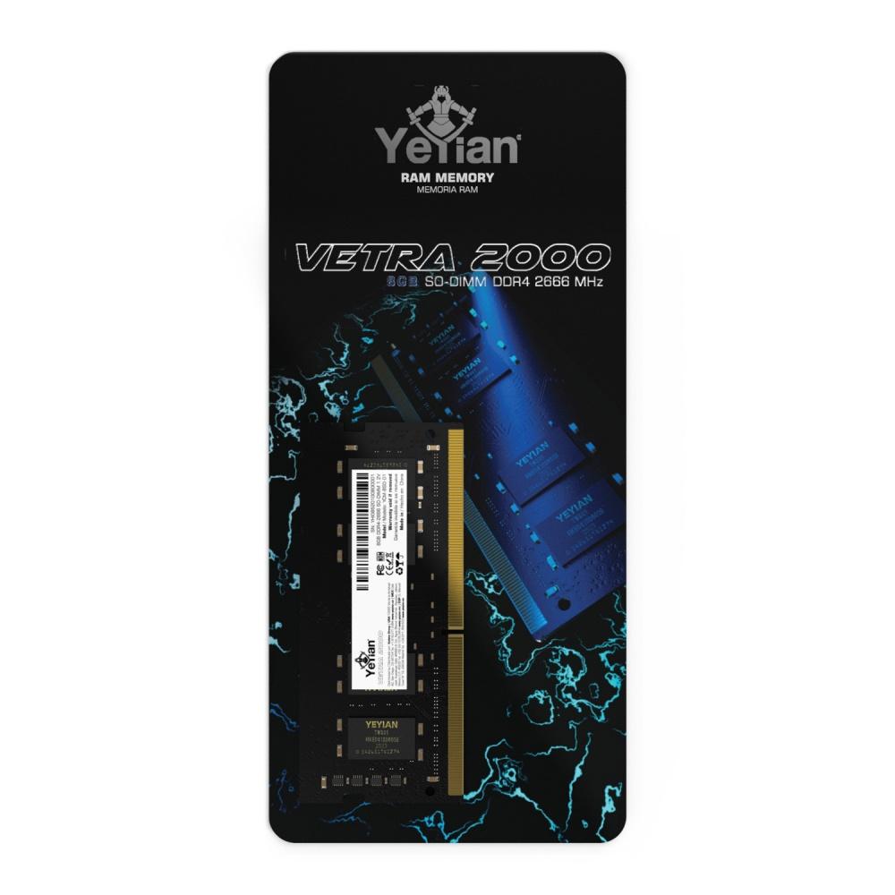 Memoria RAM Yeyian Vetra 2000 DDR4, 2666MHz, 8GB, CL19, SO-DIMM