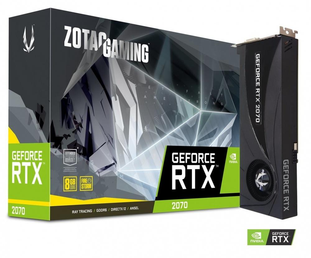 Tarjeta de Video Zotac NVIDIA GeForce RTX 2070 Blower, 8GB 256-bit GDDR6, PCI Express x16 3.0 - ¡Compra y recibe un juego GRATIS! (a elegir entre Metro Exodus o Battlefield V o Anthem)