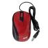 Mouse Ghia GMA50R, Alámbrico, USB, 1200 DPI, Rojo  1