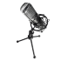 Game Factor Micrófono MCG600, Alámbrico, 1.35 Metros, Negro/Plata  1